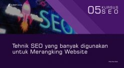 Tehnik SEO Yang Banyak Digunakan Untuk Merangking Website