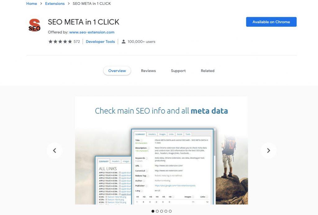 SEO META in 1 CLICK Extension Google Chrome Terbaik