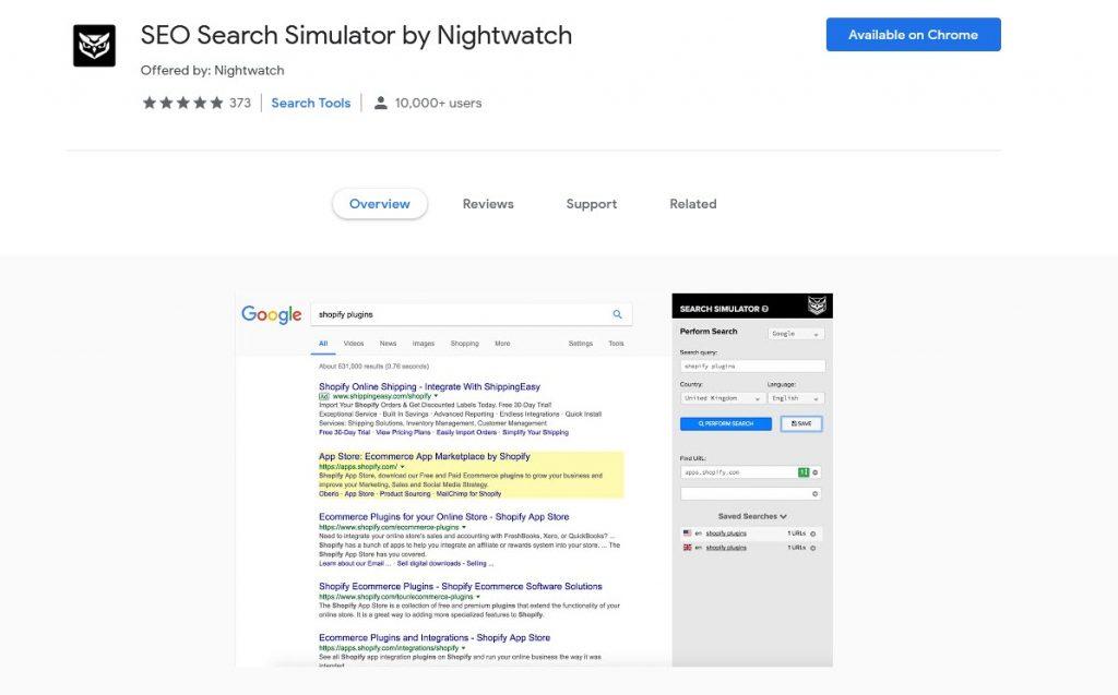 SEO Search Simulator by Nightwatch