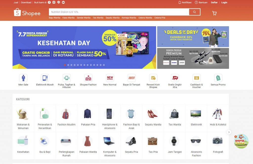 Shopee situs belanja online terpercaya