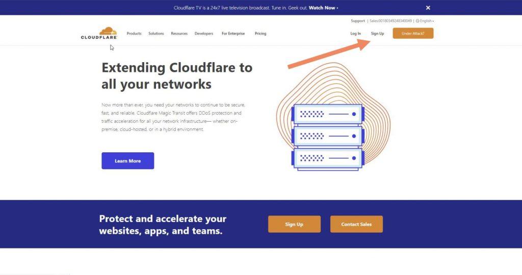 mendaftar cloudflare