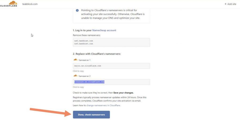 verify apakah sudah terhubung cloudflare apa belum