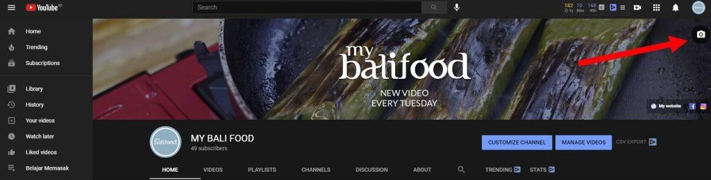 memasang channel art youtube