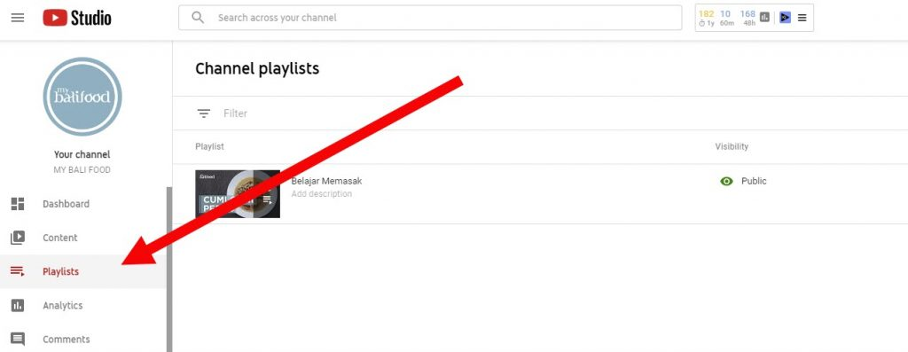 membuat daftar playlist