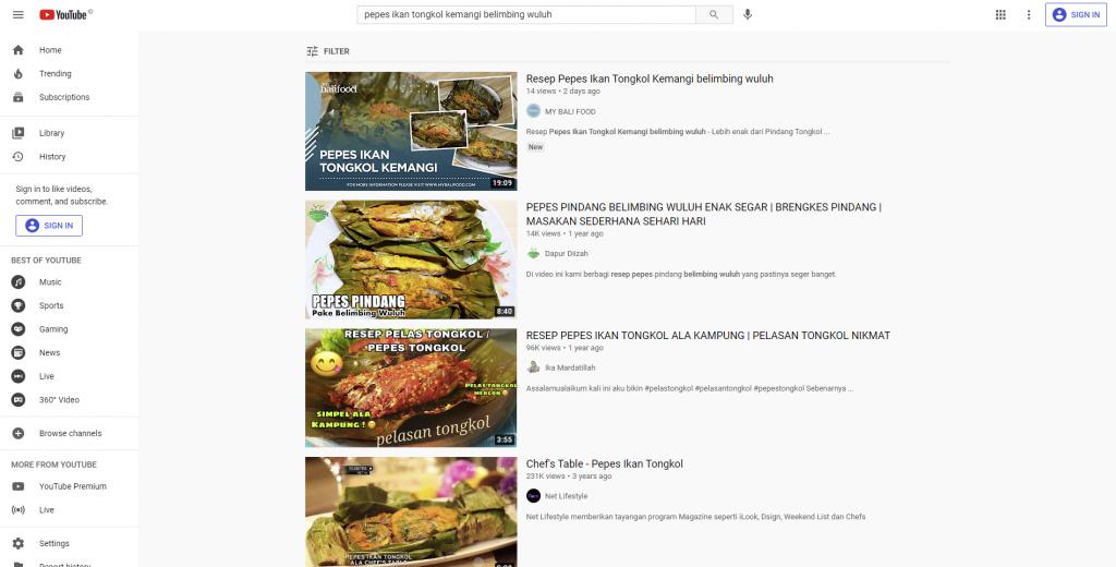 hasil pencarian thumbnails Pepes Ikan Tongkol Kemangi Belimbing Wuluh