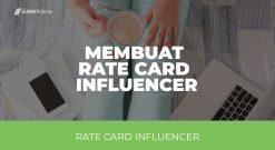 Rate Card - Cara Membuat Rate Card Influencer